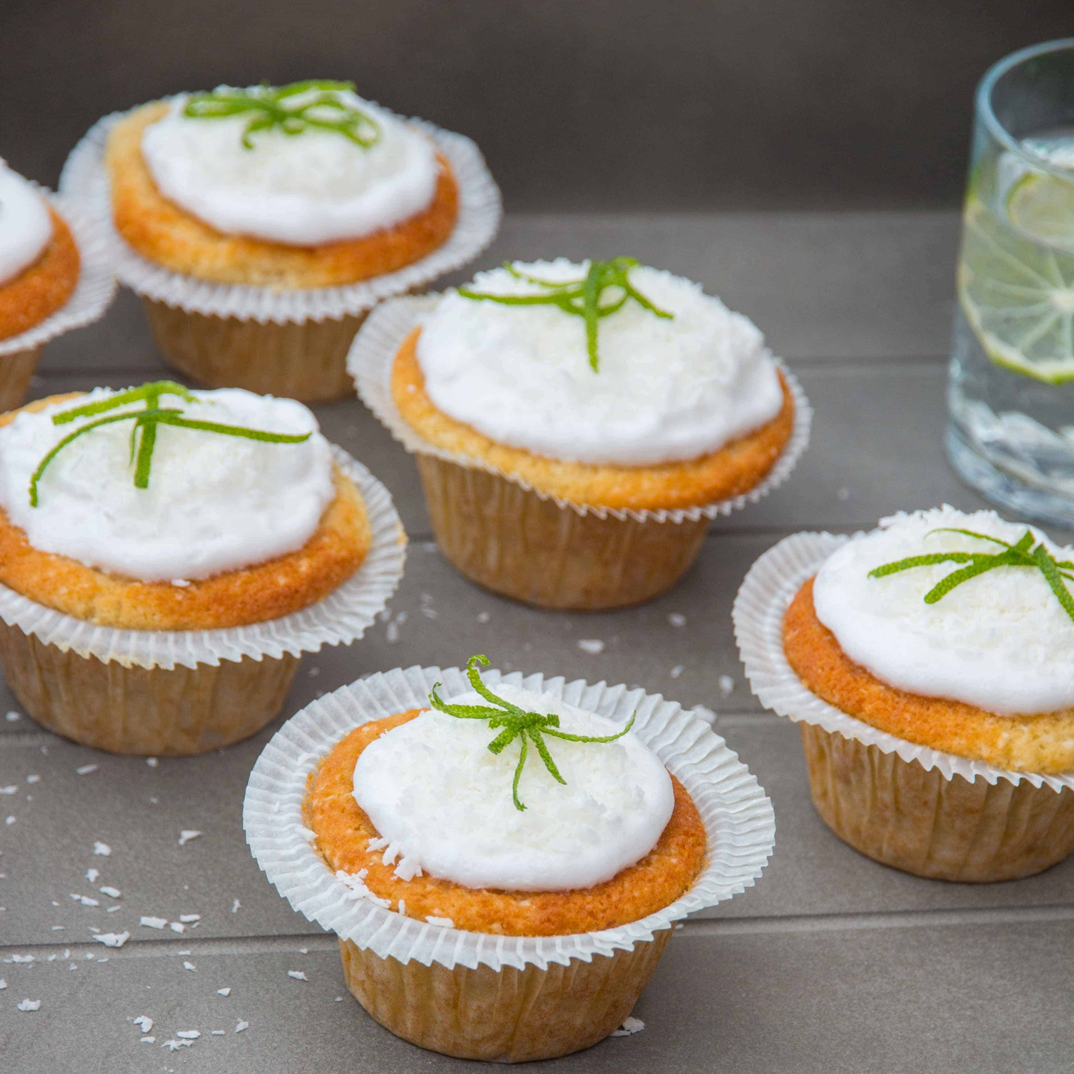 Gluten Free Coconut Lime Cupcakes - Nicky's Kitchen Sanctuary