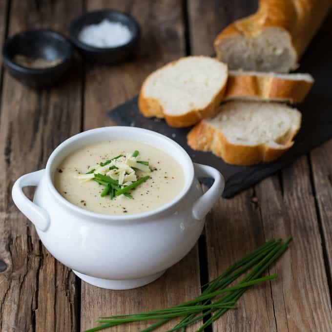 Creamy Cauliflower Soup - Nicky's Kitchen Sanctuary
