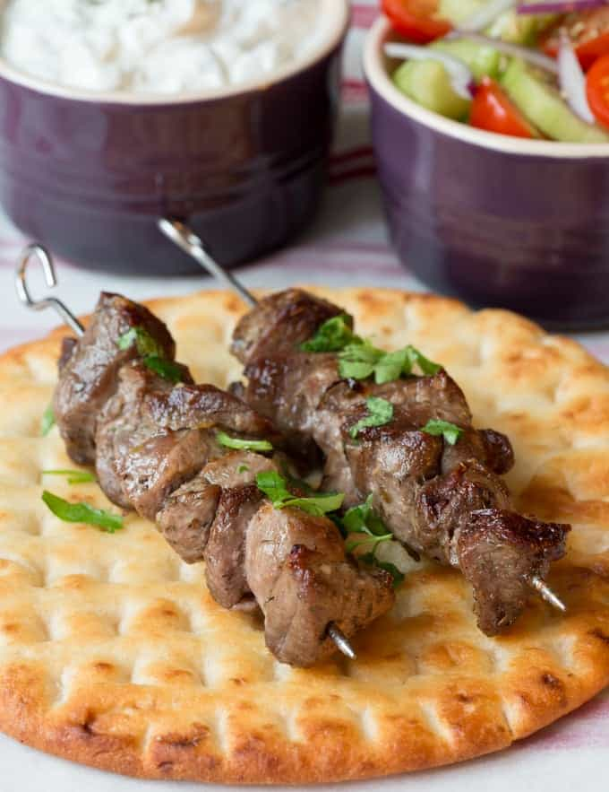 Greek Lamb Souvlaki Kebabs - Nicky's Kitchen Sanctuary