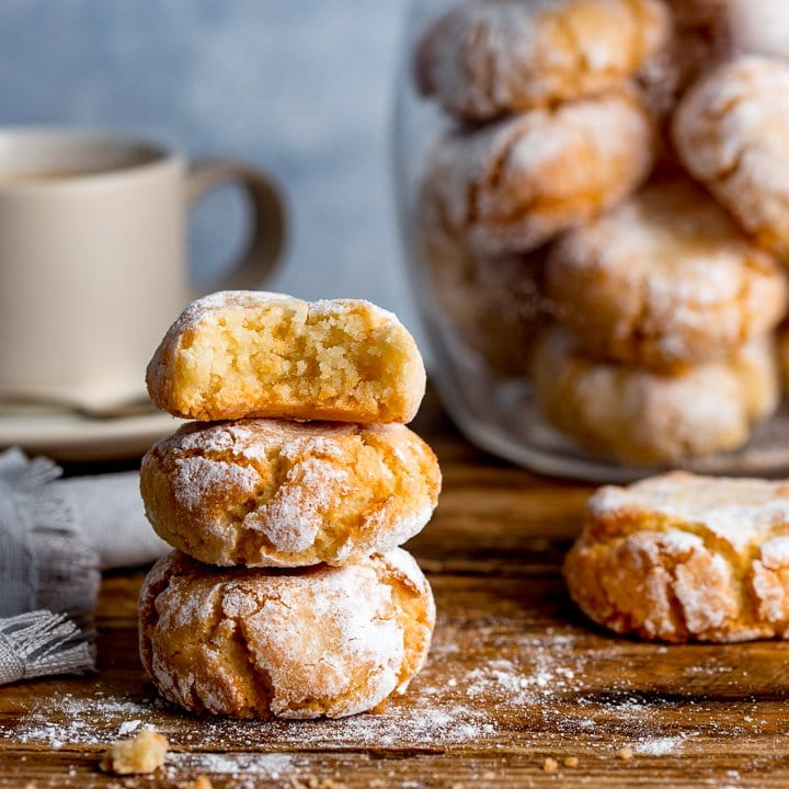 Chewy Amaretti Cookies - Nicky's Kitchen Sanctuary