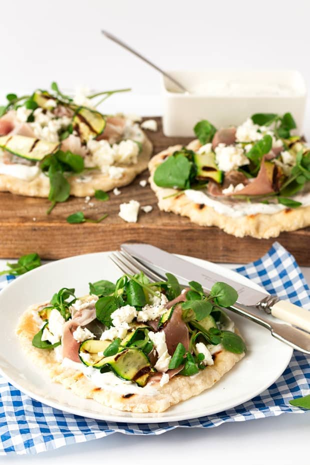 Italian inspired loaded flatbreads tall 2