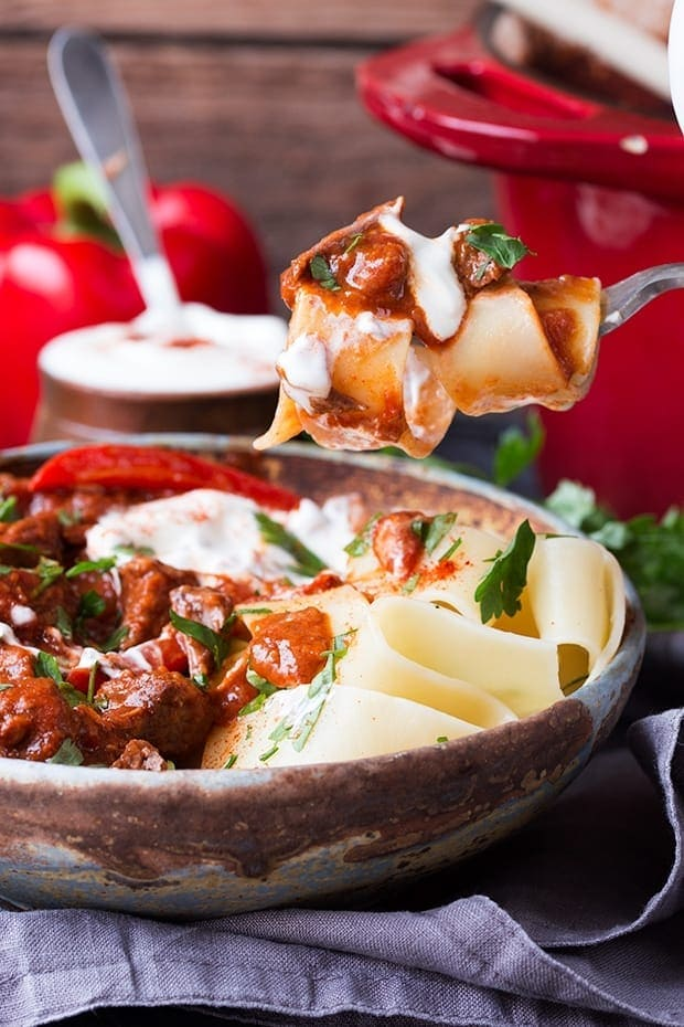 Hungarian Beef Goulash A Thick And Hearty Paprika Spiced Stew