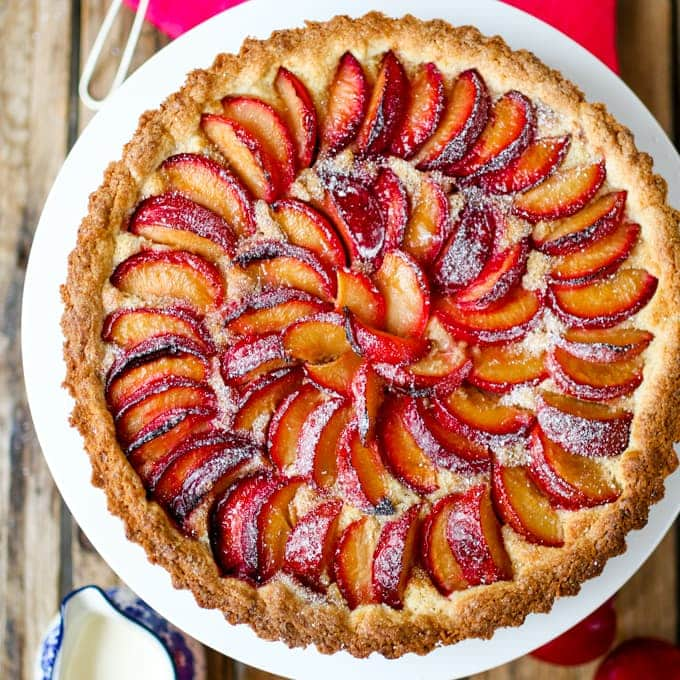 Plum and Almond Tart with Homemade Pastry - Nicky's Kitchen Sanctuary