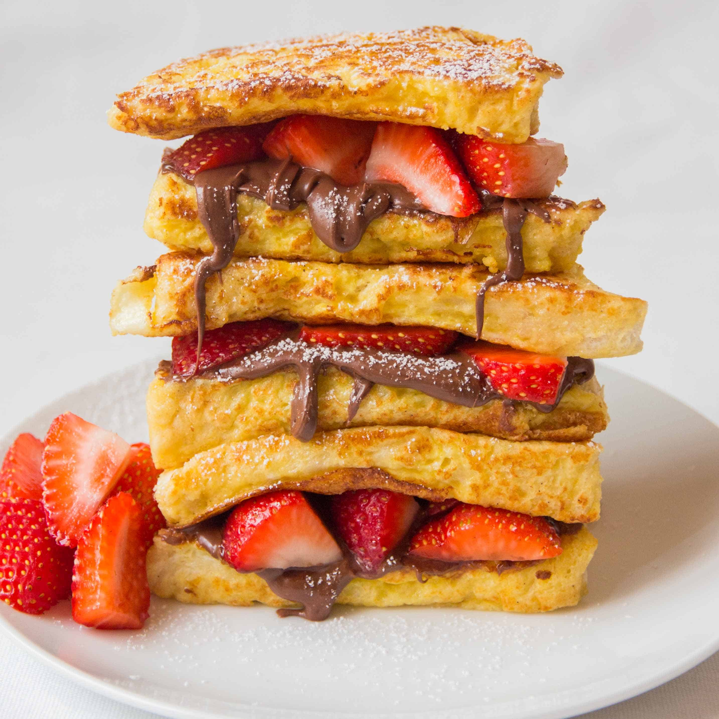 Strawberry Nutella Toastie