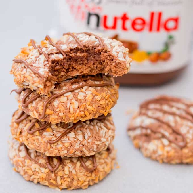 Gluten free chocolate coconut cookies - made with oat flour, which adds a malty flavour that you'll love even if you're not gluten intolerant.