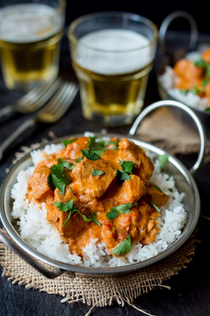Crock Pot Butter Chicken - An easy meal that the adults and kids will love! Gluten Free too.