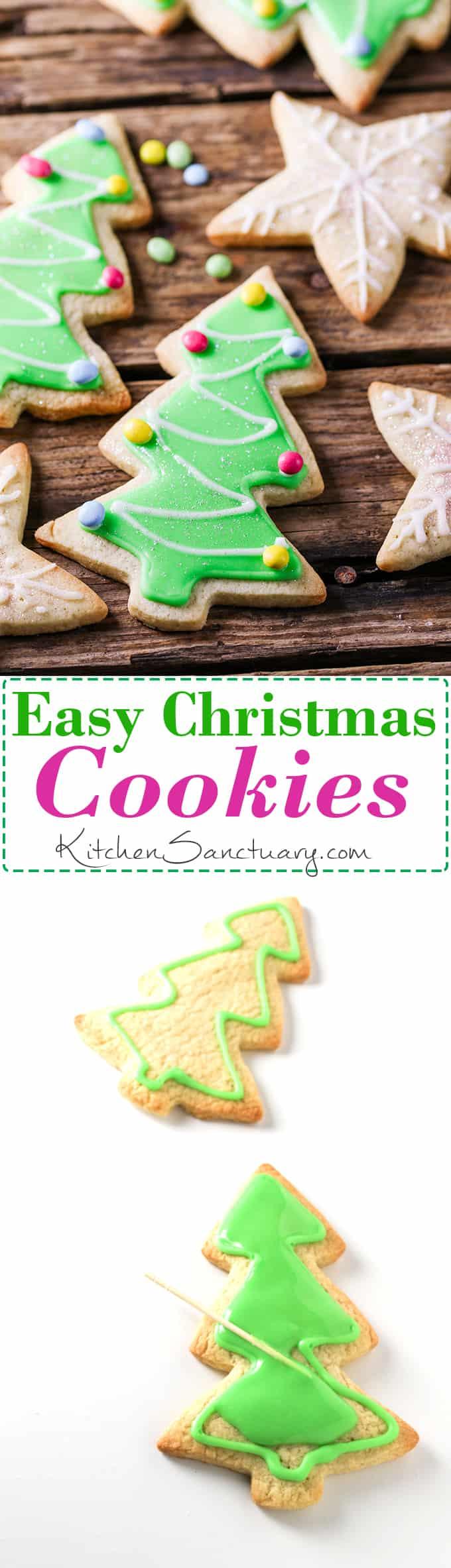 How to make christmas sugar cookies - How To Make Christmas Sugar Cookies With Simple Icing