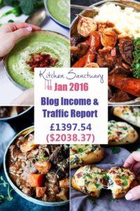 Kitchen Sanctuary - Blog income January 2016