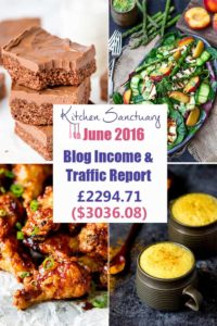 Income and Traffic Information for Kitchen Sanctuary June 2016. How I made more than $3000 this month.